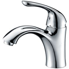 Anzzi Clavier Series Single Hole Single-handle Mid-arc Bathroom Faucet in Polished Chrome