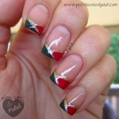 Digit-al Dozen Does Red, Green & Gold: Funky French
