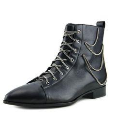 GIUSEPPE ZANOTTI Giuseppe Zanotti Ketten Women Pointed Toe Leather Black Ankle Boot'. #giuseppezanotti #shoes #boots & booties