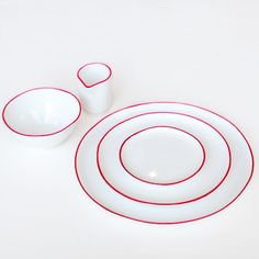 Abbesses Ceramic Set - Red