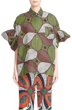 From Nordstroms could you even imagine buying this shirt? It's the ugliest thing I've ever seen it's over $800. Just send the check to me I'll make you the ugliest shirt you have ever seen. Whose the buyer for this? Have you all lost your mind?