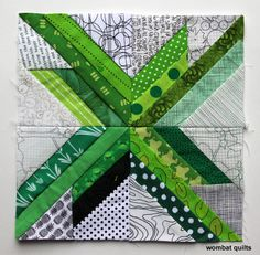 This week's paper piecing star is a easy, fun one… The straight star is another relatively...