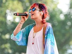 | Lily in the Field | Songbird Lily Allen takes the mic to perform at the Latitude Festival in Suffolk, England, on Friday.