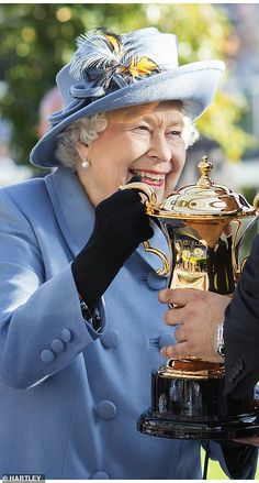dailymail: Royal Ascot Champions Day, Bershire, October 20, 2018-Queen Elizabeth presented the prize for the Queen Elizabeth II Stakes