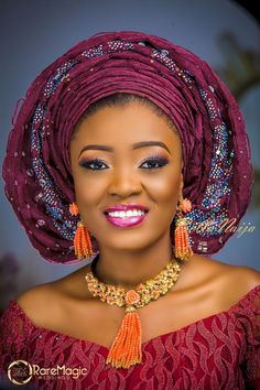 Nigerian Wedding Trends: Would You Wear These Infinity Pleats/ Multi-layered Ankara Gele By Beautywise Makeover, Oteniara Makeovers & Isle Ov. African Men Fashion, African Fashion Dresses, African Beauty, African Women, African Outfits, Africa Fashion, Ethnic Fashion, African Attire, African Wear