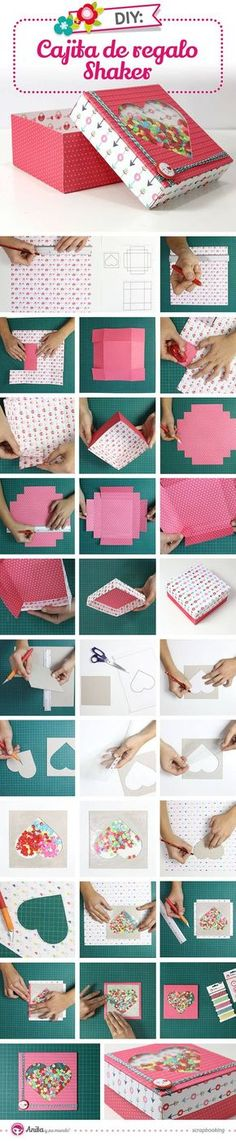 """""""Shaker"""" gift box step by step   DIY Crafts Tips"""