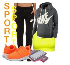 """SpOrt"" by lauraumi ❤ liked on Polyvore featuring NIKE"