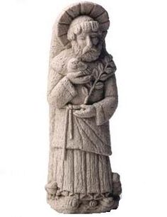 This was sculpted shortly after returning from a trip to Italy. It was inspired by the old stone carvings and garden settings. Being the patron saint of nature, he is usually seen holding a small animal and plant. This statue can free-stand in the flowers or hang on a wall. Always a good gift for people who enjoy the outdoors.