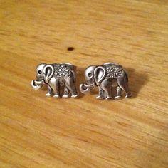 Silver Elephant Earrings - Little Elephant Stud Earrings - Silver Stud Earrings, Elephant Post Earrings by ChelseaJewels on Etsy https://www.etsy.com/listing/164049252/silver-elephant-earrings-little-elephant