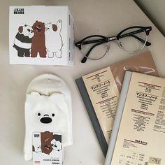 Imagen de aesthetic, glasses, and we bare bears Brown Aesthetic, Korean Aesthetic, Aesthetic Photo, Aesthetic Pictures, Muji, We Bare Bears, We Bear, Image Originale, Thing 1