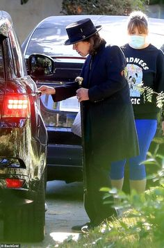 Still rocking: Ozzy Osbourne sported newly dyed dark hair on Monday as he left a meeting i...