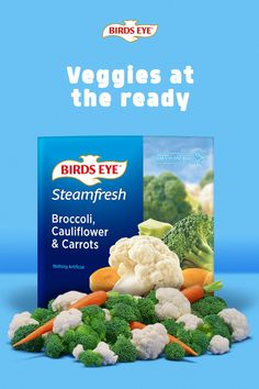 This delicious Birds Eye California blend of vegetables with broccoli, cauliflower, and carrots is just right for side dishes and your recipes. Healthy Recipes For Weight Loss, Healthy Crockpot Recipes, Healthy Meal Prep, Healthy Foods To Eat, Healthy Cooking, Healthy Life, Healthy Eating, Clean Eating, Vegan Dinner Recipes
