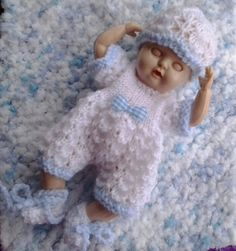 Knitted Dolls Clothes 6 inch to 7 inch reborn baby by paulinet