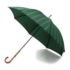MACKINTOSH PHILOSOPHY WOMENS マッキントッシュ フィロソフィー ウイメンズ|傘|ストライプ長傘|ウエアと連動したカラーを使用した晴雨兼用(紫外線遮蔽率95%以上)の秋傘。細身なボディに、華奢なバンブーハンドルに薄手で程よい光沢があるきれい色の傘生地を使用。他にはない上品な傘に仕上がっています。