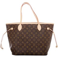 Pre-owned Louis Vuitton Monogram Fuchsia Neo Neverfull MM ($1,350) ❤ liked on Polyvore featuring bags, handbags, tote bags, bolsos, handbags and purses, totes, drawstring handbags, louis vuitton tote, brown tote and brown purse