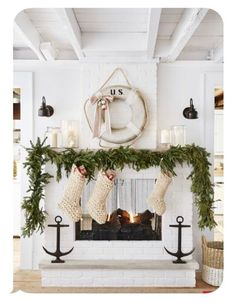 Heritage item. As seen in Country Living Magazine. This hand-knit, super chunky, charming, rustic, farmhouse style, Christmas stocking adds country charm to your holiday. It is extra large and looks just beautiful hanging on the mantle or your stairway. It measures 25 inches from top to toe and is