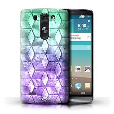 STUFF4 Case/Cover for LG G3 S/D722/Colour Cube/Green/Purple