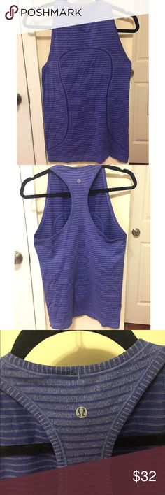 Lululemon tank top Purple Lululemon tank top Great used condition It is a size 8 but I would say it will fit a 4 to a 8. It just depends on the type of fit you want. No trades. The last picture is the true color. lululemon athletica Tops Tank Tops