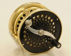 "Saracione Mark IV 4¼"" Spey reel. This reel has been used and shows a few very minor nicks and scuffs, but overall remains in excellent condition and comes with an extra spool. It has to be considered at the top of the list of modern spey reels and as you can see in the photo it is as beautiful as it is functional. Both reel and extra spool come in original Saracione marked soft cases. For both"