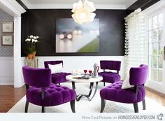Purple Decor for Living Room . √ 28 Purple Decor for Living Room . Dining Room Design, Decorating Your Home, Purple Dining Room, Living Room Designs, Purple Living Room, Home Decor, Purple Chair, Room Design, Room Decor