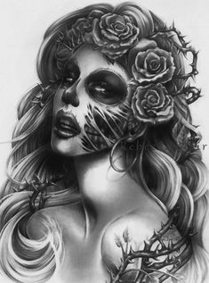 Querida Muerta Revisited by R-becca.deviantart.com on @deviantART... i so want her to be part of my sleeve!