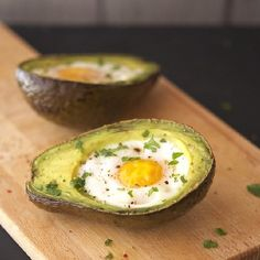 Eggs Baked in Avocado Boats - 2-ingredient easy, super healthy and perfect for breakfast or brunch, like really perfect!