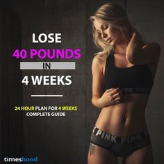 Finding the ways to lose weight fast? Try this complete 24-hour weight loss guide to lose 40 pounds in 4 weeks. This 4 weeks weight loss challenge has everything from diet, workouts, drinks, sleep and every small thingthat can help youin fast weight loss.