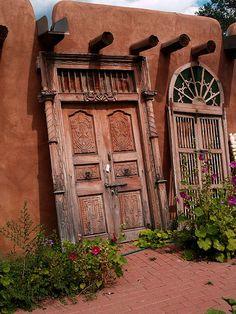 Old Taos Doors   by saxonfenken, via Flickr