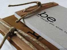BE the change notebook par LLproduct sur Etsy COPYRIGHT. Like the wooden binding.