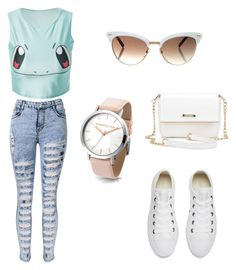 """Untitled #8"" by ajlamaca ❤ liked on Polyvore featuring Converse and Gucci"