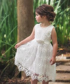 Look at this Trish Scully Child White Bella Brianna Dress - Infant, Toddler & Girls on today! Girls Lace Dress, Kids Outfits Girls, Toddler Girl Dresses, Girl Outfits, Girls Dresses, Flower Girl Dresses, Kids Girls, Party Dresses, Formal Dresses