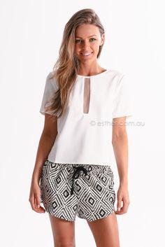 esther native shorts - black | Esther clothing Australia and America USA