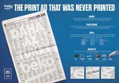 Advertisement by McCann, Turkey - Beko - The never printed ad.