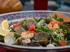 Chilled Italian Seafood Salad recipe from Guy Fieri via Food Network