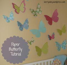 When I started decorating my daughter's nursery, I came across some cute paper butterfly decor(similar) from Pottery Barn Kids. It's no longer available, but no problem, use this tuto…