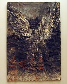 "Anselm Kiefer, ""L'Ascension"" (The Ascension) 1978-2008 (oil, emulsion, acrylic, shellac, and resin-coated ferns on canvas)"