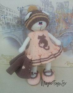Кошечка в стиле тильда Керри. #купитькошечку#вязанаякошечка#кошкатильда#амигурумикотик#кошкавподарок#подарок