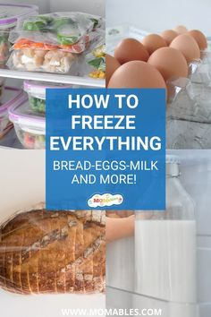 Stock your freezer full of delicious healthy foods. In this post you'll see how to freeze everything from bread to eggs, from milk to berries and a whole lot more! Real Food Recipes, Snack Recipes, Homemade English Muffins, Healthy Snacks, Healthy Recipes, Smoothie Packs, Everything Bagel, Breakfast Time