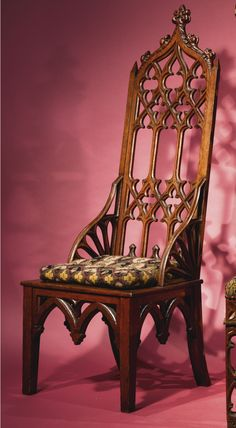 A GOTHIC REVIVAL CARVED OAK LARGE HALL CHAIR, AMERICAN, CIRCA 1860-1880   lot   Sotheby's