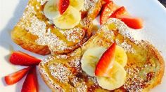 Fluffy French Toast - This French toast recipe is different because it uses flour. I have given it to some friends and they've all liked it better than the French toast they usually make! Breakfast Toast, Breakfast Dishes, Breakfast Recipes, Breakfast Ideas, Breakfast Time, Fluffy French Toast, Make French Toast, Yogurt Granola, Waffles