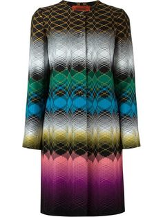 Shop Missoni geometric effect coat in Boutique Tricot from Chianciano Terme, Italy.