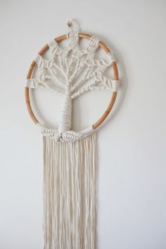 Add a unique bohemian style to your home or outdoor space with this uniquely handmade piece. This macramé is handmade and may differ slightly in design. Polka Dot Walls, Geometric Heart, Wall Crosses, Heart Wall, Wall Patterns, Tree Of Life, Bohemian Style, Peonies, Dream Catcher