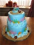 Image detail for -Little Mermaid Birthday Cake...all buttercream icing with chocolate ...