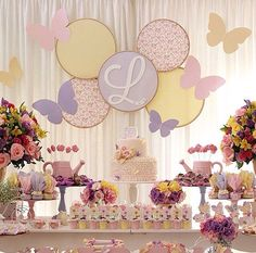Love the backdrop-Enchanted Butterfly Garden Birthday Party Butterfly Garden Party, Butterfly Birthday Party, Butterfly Baby Shower, Garden Birthday, Happy Birthday B, 1st Birthday Girls, Birthday Ideas, Birthday Party Decorations, Birthday Parties