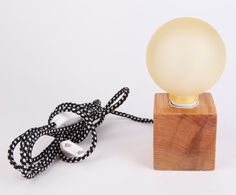 solid wood lamp enkle by nordarchitectdesign on Etsy