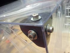 An internal Corner Bracket for sheet construction like perspex etc. or could even be used with self-taping screws under a timber shelf, its up to you! The bolt holes are Dia. The overall size is thick. For plexiglass enclosure