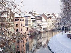 Strasbourg, France--the prettiest snow I've ever seen. Ever.