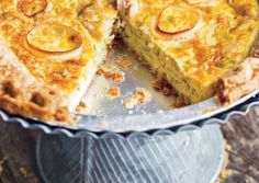 Flamiche tart with leek from Vegetarian Times