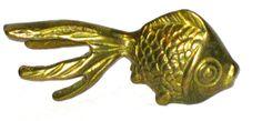 Vintage 70s small brass goldfish koi fish decor by sweetalicelovesyou on Etsy
