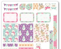 Pink Fox Decorating Kit / Weekly Spread Planner por PlannerPenny